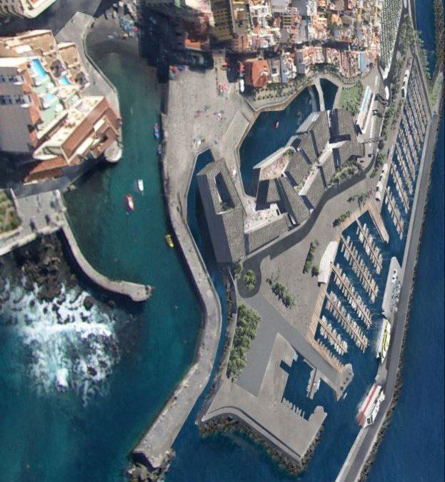 Building of a port in Puerto de la Cruz