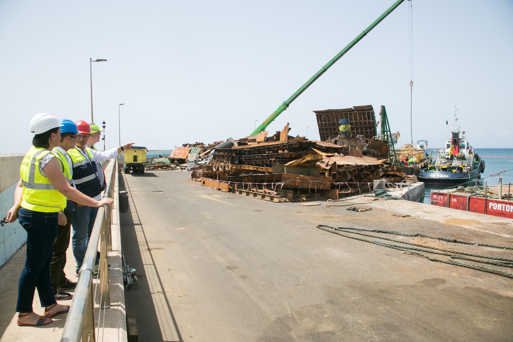 El traslado de las pontonas ubicadas en el puerto de gran for Oficina virtual gobierno de canarias