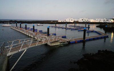 Puertos Canarios finaliza los trabajos de instalación de cuatro nuevos pantalanes en el puerto de Órzola