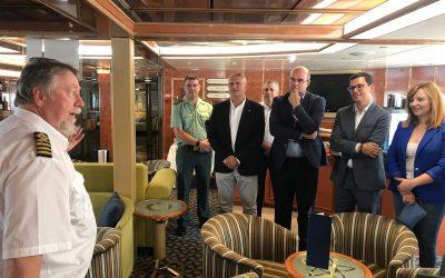 Pablo Rodríguez subraya que el Gobierno de Canarias está en marcha para posicionar el puerto de Tazacorte en el mercado de cruceros