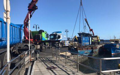 Obras Públicas inicia la reparación del muelle de Órzola