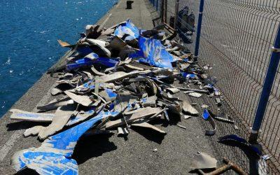 Puertos Canarios atestigua la buena calidad de los trabajos de limpieza de los fondos del puerto de Agaete tras el incidente del Bentago Express