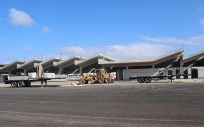 La nueva estación marítima, sus zonas verdes y las nuevas plazas de aparcamiento